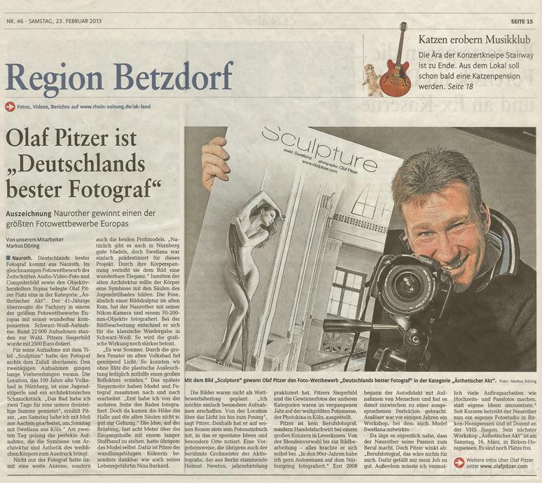 Rhein-Zeitung 23. Feb. 2013